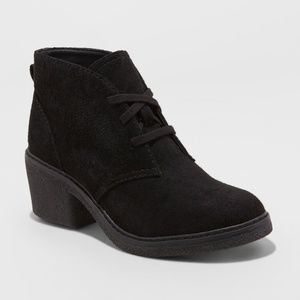 Universal Thread Shoes - Universal Thread Lace-Up Heeled Ankle Booties